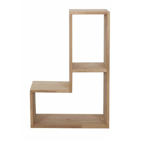 LEF collections Children Stack Cabinet 'Tetris' natural brown oak stack cabinet 80x27x54cm
