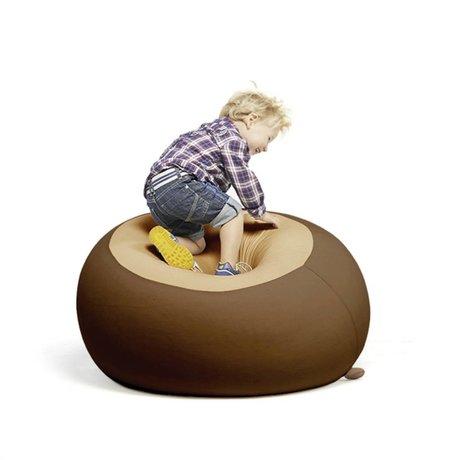 Terapy Children Beanbag Stanley brown 70x70x80cm 320liter