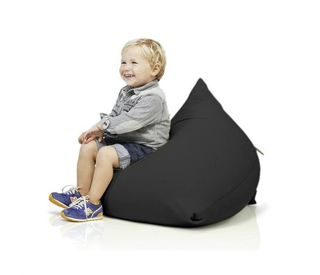 Terapy Children Beanbag Sydney pyramid black cotton 60x60x60cm 130liter