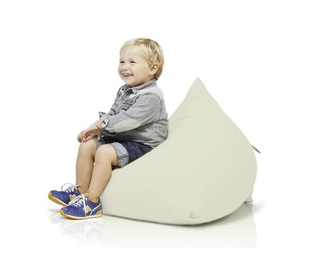 Terapy Children Beanbag Sydney pyramid off-white cotton 60x60x60cm 130liter