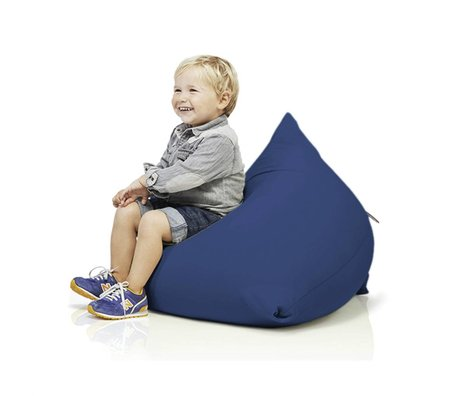 Terapy Children Beanbag Sydney pyramid blue cotton 60x60x60cm 130liter