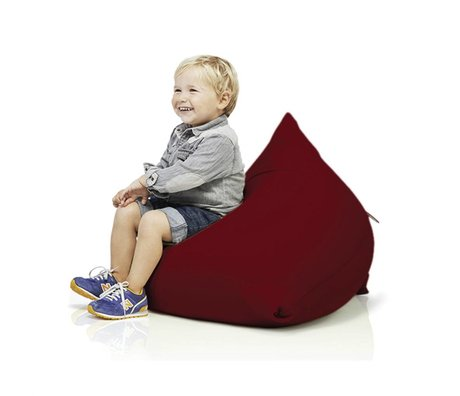 Terapy Children Beanbag Sydney pyramid burgundy cotton 60x60x60cm 130liter