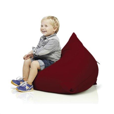 Terapy Kinderzitzak Sydney pyramide bordeaux rood katoen 60x60x60cm 130liter