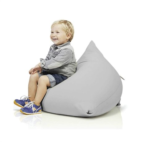 Terapy Children Beanbag Sydney pyramid light gray cotton 60x60x60cm 130liter