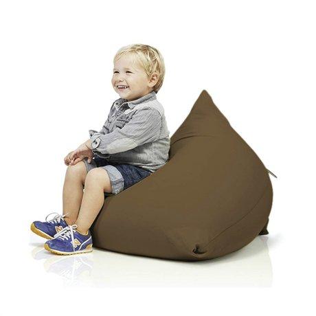Terapy Kinderzitzak Sydney pyramide bruin katoen 60x60x60cm 130liter