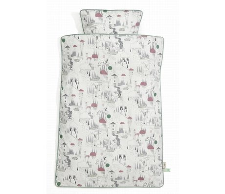 Ferm Living kids Children's Well In The Rain multicolour cotton 100x140cm-46x40cm