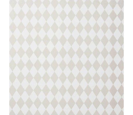 Ferm Living kids Children's wallpaper Harlequin pink checkered 10.05x0.53m