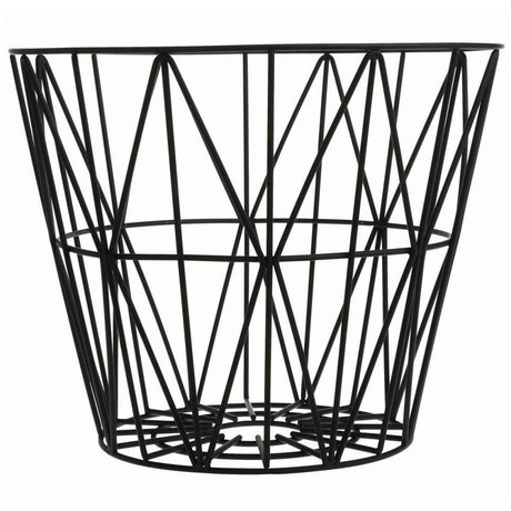 Ferm Living kids Kindermand zwart ijzer 60x45cm Wire Basket