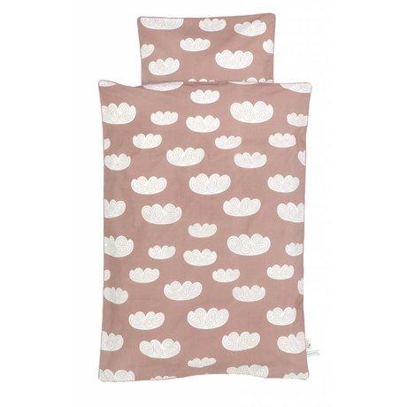 Ferm Living kids Children's Well-Cloud pink cotton 70x100cm 46x40cm