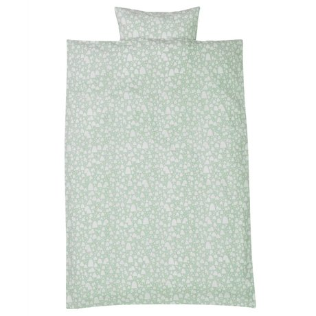 Ferm Living kids Children's Well MountainTops mint green cotton-100x140cm 46x40cm