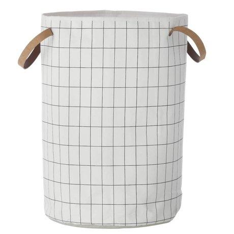 Ferm Living kids Kinderopbergmand Grid Basket zwart wit 40x60cm
