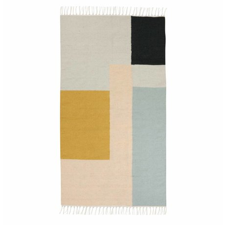 Ferm Living kids Children Kilim Rug Squares 2 sizes 80x140cm and 140x200cm