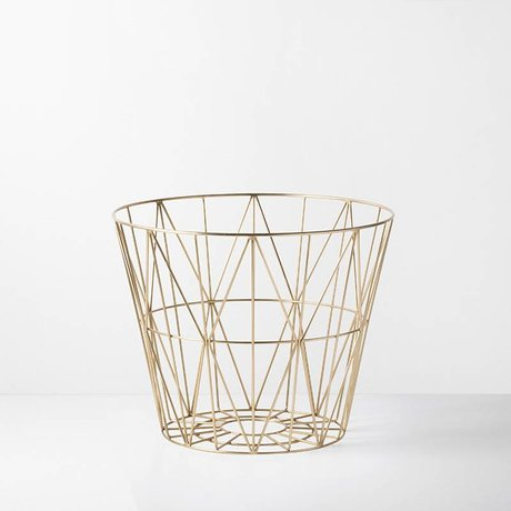 Ferm Living kids Children's basket brass gold iron 60x45cm Wire Basket