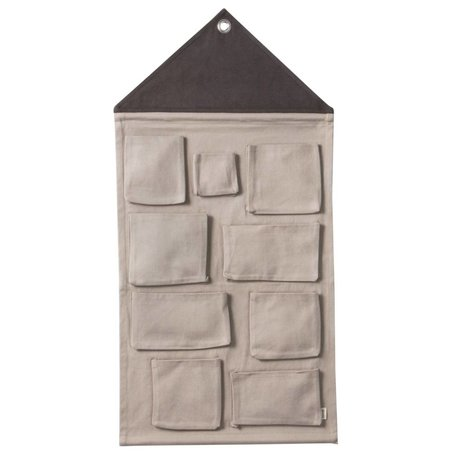 Ferm Living kids Kinderopbergzak House grijs textiel 50x98cm