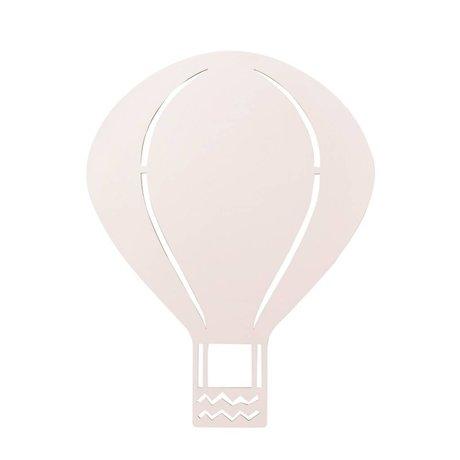 Ferm Living kids Kinderwandlamp luchtballon roze hout 26,5x34,55cm, Air balloon