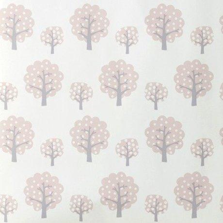 Ferm Living kids Children's wallpaper Dotty pink 53x1000cm