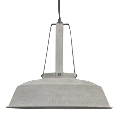 HK-living Pendant lamp workshop L gray mat metal 45x45x40cm