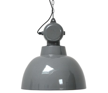 HK-living Kinderhanglamp Factory grijs LARGE metaal 50cm