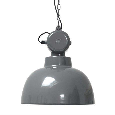 HK-living Kinderhanglamp Factory grijs MEDIUM metaal 40x45cm