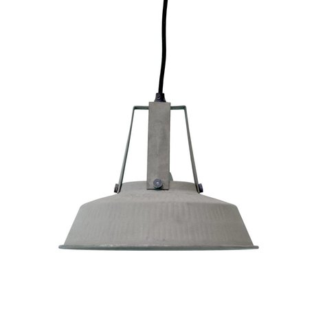 HK-living Children's lamp workshop M mat gray metal 29,5x29,5x24cm