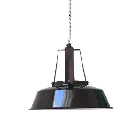 HK-living Kinderhanglamp workshop M zwart metaal 29,5x29,5x24cm