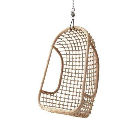 HK-living Kinderhangstoel licht naturel bruin rotan 55x72x110cm