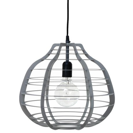 HK-living Kids Lamp LAB XL gray matt metal 36x36x32cm