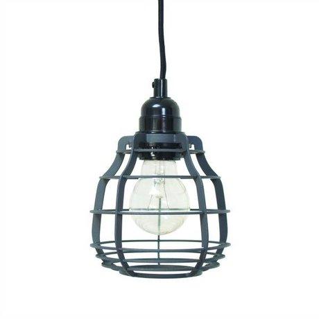 HK-living Kinderhanglamp LAB mat grijs met plafondkapje metaal 13x13x17cm