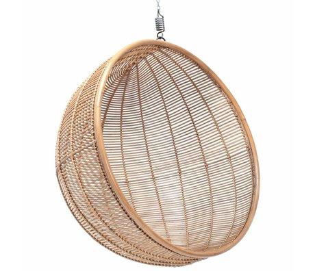 HK-living Kinderhangstoel bal rotan licht naturel 108x108x83cm