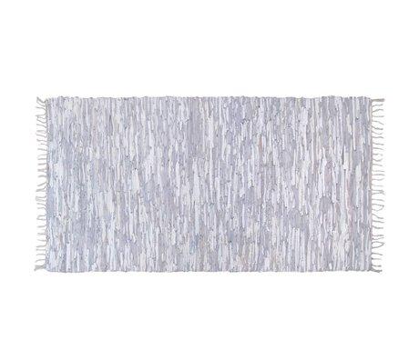 HK-living Kindervloerkleed leer licht grijs 180x280cm