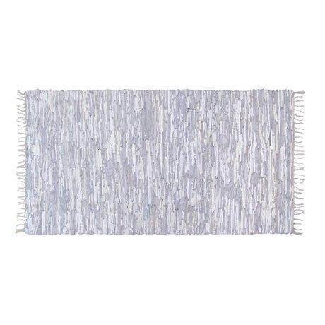 HK-living Kindervloerkleed leer licht grijs 175x90cm