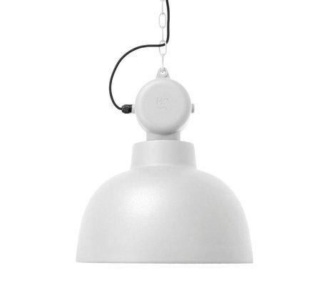 HK-living Kinderhanglamp Factory wit mat MEDIUM metaal 40x45cm