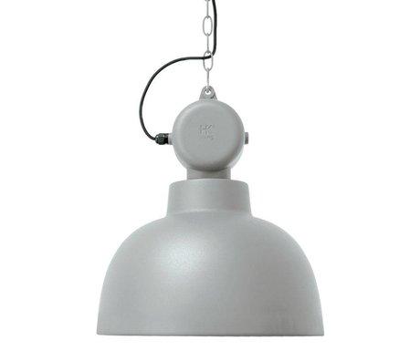 HK-living Kinderhanglamp Factory licht grijs mat MEDIUM metaal 40x45cm