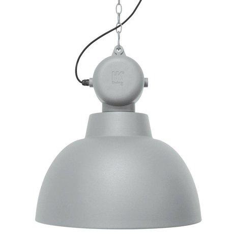 HK-living Kinderhanglamp Factory licht grijs mat LARGE metaal 50cm