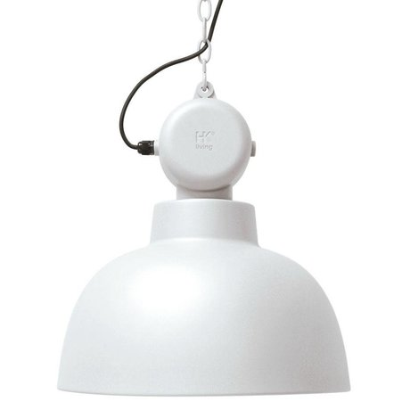 HK-living Kids Lamp Factory LARGE white matte metal 50cm