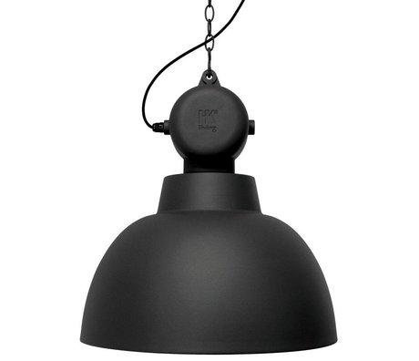 HK-living Kids Lamp Factory LARGE black matte metal 50cm