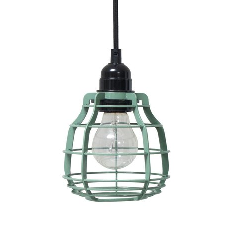 HK-living Kids Lamp LAB army green with metal switch 13x13x17cm