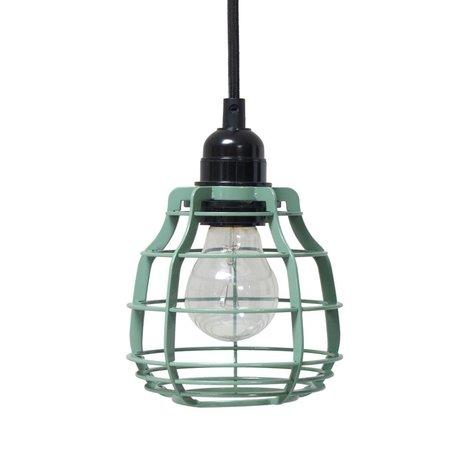 HK-living Kinderhanglamp LAB army green met schakelaar metaal 13x13x17cm