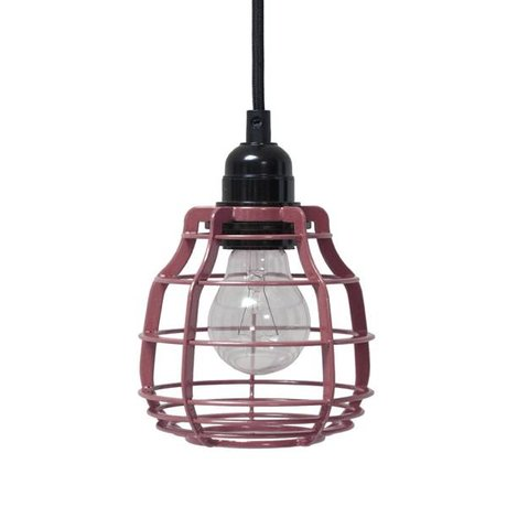 HK-living Kids Lamp LAB marsala with switch metal 13x13x17cm