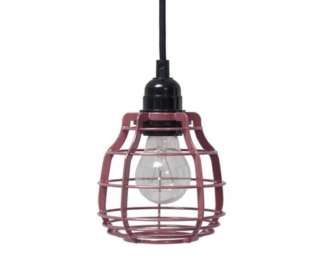 HK-living Kinderhanglamp LAB marsala met pendel metaal 13x13x17cm