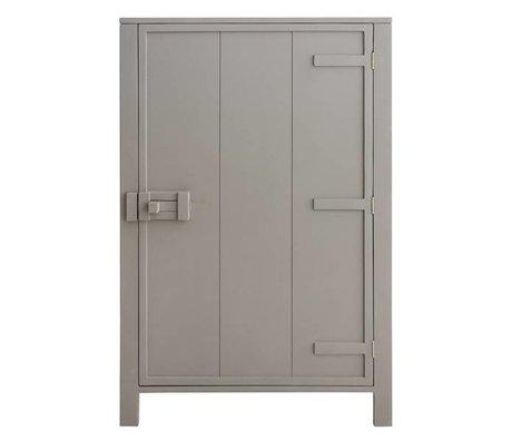 HK-living Children cabinet with single door wood taupe brown 81x36x122cm
