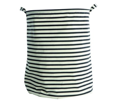 Housedoctor Kinderopbergmand Stripes zwart wit gestreept 40x50cm katoen/polyester/rayon