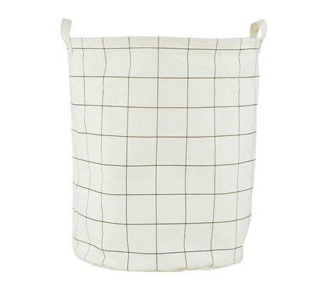Housedoctor Kinderopbergmand 'Squares' wit/zwart katoen/polyester/rayon 40x50cm