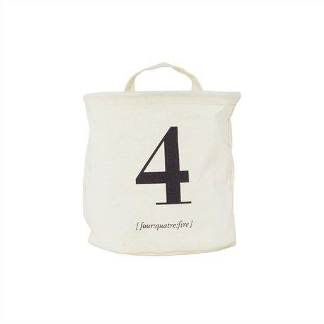 Housedoctor Kinderopbergmand 4 wit/zwart katoen/polyester/rayon 20x20cm
