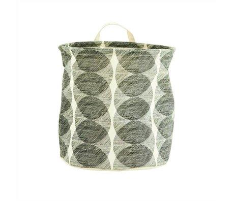 Housedoctor Kinderopbergmand Circles wit/zwart katoen/polyester/rayon 30x30cm