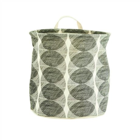 Housedoctor Child Pointing Mountain Basket Circles white / black cotton / polyester / rayon 30x30cm