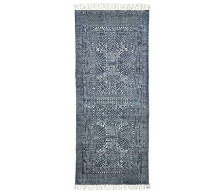 Housedoctor Kindervloerkleed Iza grijs wit katoen 90x200cm