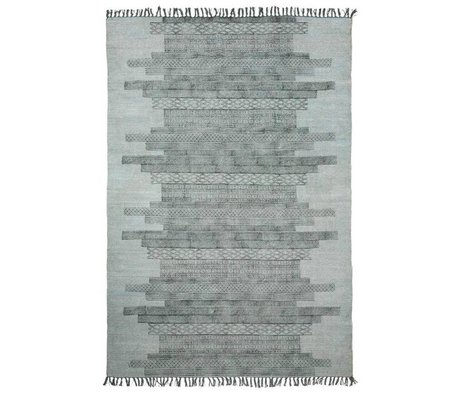 Housedoctor Kindervloerkleed Karma grijs katoen 160x230cm