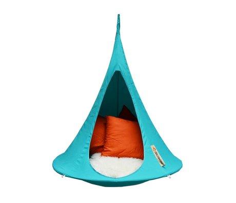 Cacoon Children Hangstoel tent Bonsai turquoise blue 125x120cm