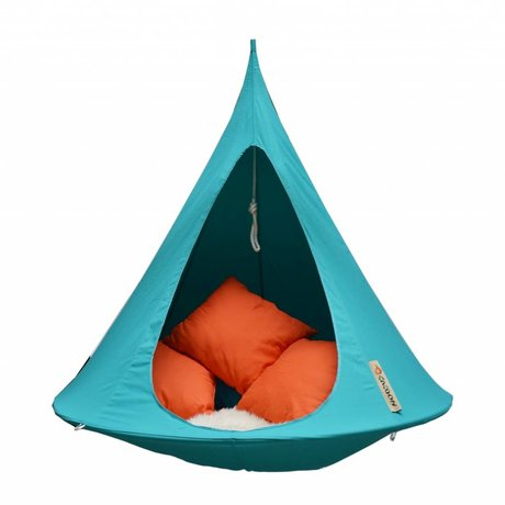 Cacoon Kinderhangstoel tent Single 1-persoons tuquoise blauw 150x150cm